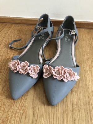 Strappy Ballerinas grey-light pink