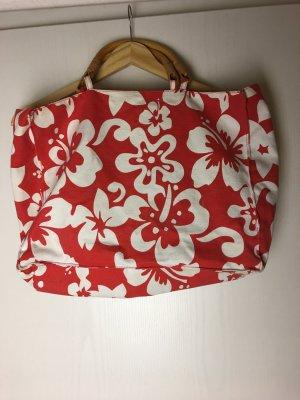Blumige Strandtasche