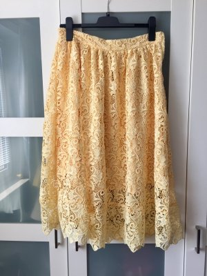 H&M Lace Skirt yellow