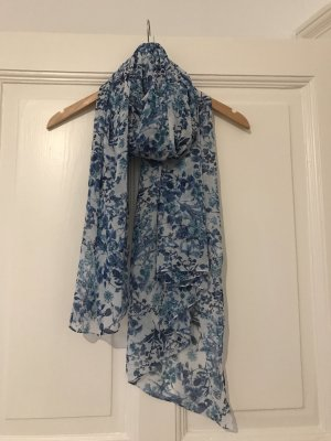 Blumiges blau-weisses Tuch