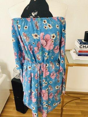 Jaqueline de Yong Off-The-Shoulder Dress multicolored