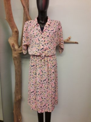Robe mi-longue rose-jaune