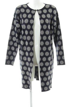 Bluoltre Strick Cardigan dunkelblau-grau Punktemuster Casual-Look