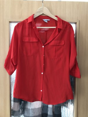 H&M Blouse Collar red