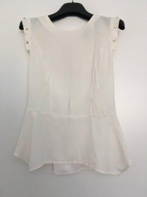 H&M Blouse met korte mouwen wit