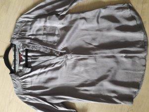 Tom Tailor Glanzende blouse grijs