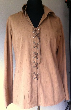 Heine Blouse en crash marron clair