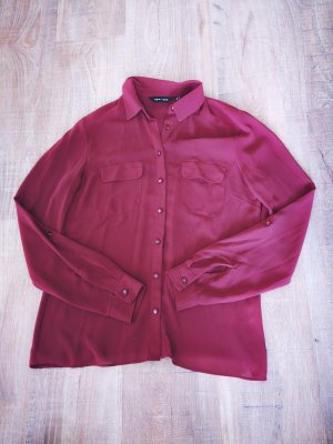 New Look Transparent Blouse dark red