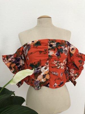 H&M Ruche blouse veelkleurig Katoen