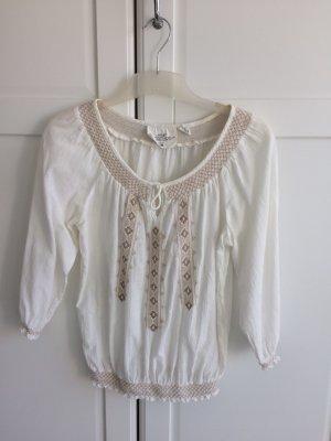 H&M Carmen blouse wolwit