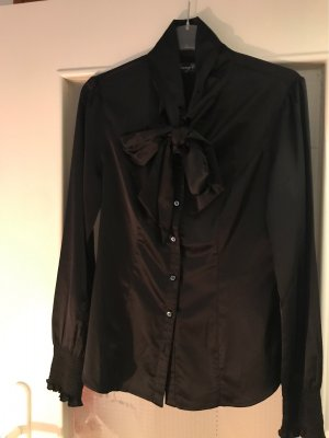 Young Couture by Barbara Schwarzer Tie-neck Blouse black