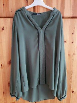 Amisu Long Sleeve Blouse dark green