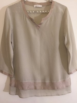 NC nice connections Blusa in seta beige-crema