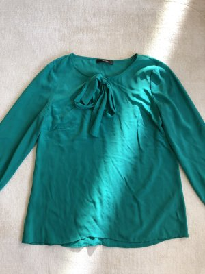 Hallhuber Blusa brillante verde-menta