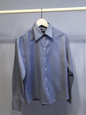 Appelrath-Cüpper Blusa de manga larga blanco-azul acero Algodón