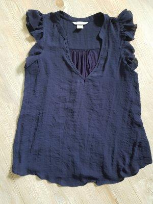 H&M Blouse sans manche bleu foncé polyester