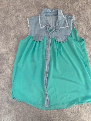 Denim Blouse turquoise
