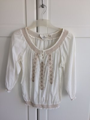 H&M Carmen Blouse natural white