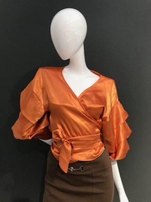 Blouse brillante orange