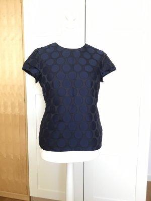 Boden Glanzende blouse zwart-donkerblauw