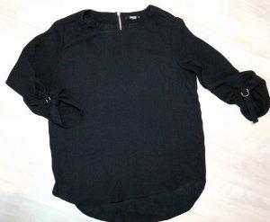 Colloseum Slip-over blouse zwart-zandig bruin