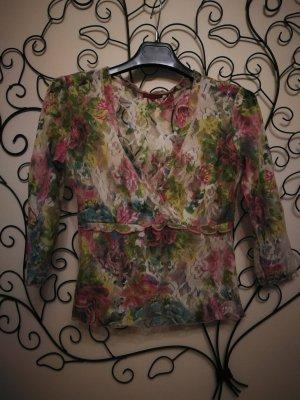 Axara T-shirt col en V multicolore