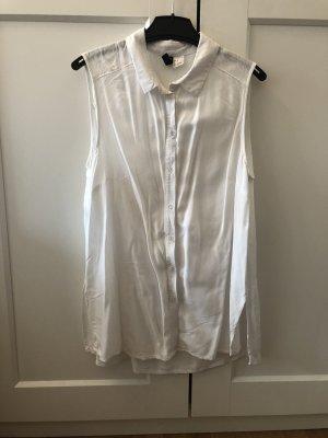 H&M Camicia a maniche corte bianco
