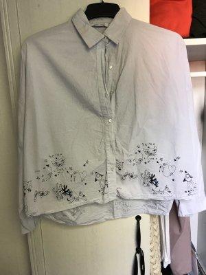 Zara Oversized blouse lichtblauw
