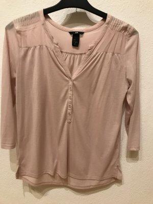 H&M Blouse à manches longues rose chair-abricot
