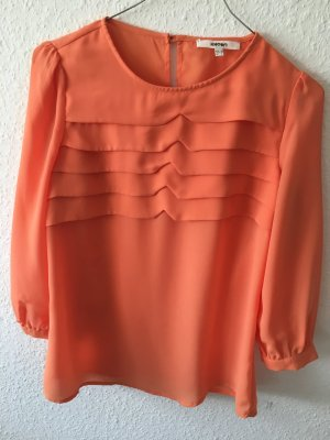Bluse 3/4 ärmelig in Orangefarbe