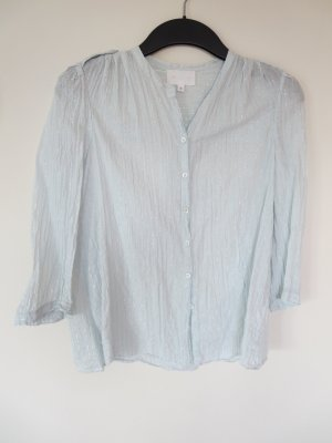 Blouse transparente bleu clair tissu mixte
