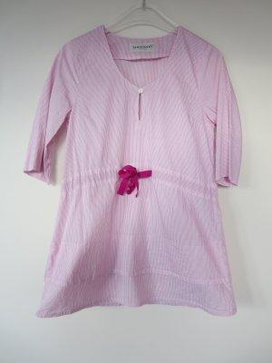Bluse 3/4-Arm pink-rosa Streifen Schleife