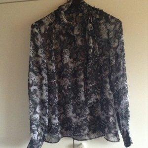 Fracomina Camicetta a blusa antracite-grigio chiaro