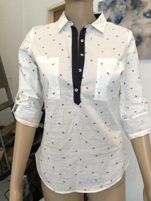 Zara Basic Blouse-chemisier noir-blanc
