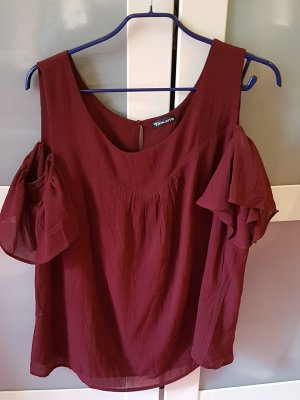 Tamaris Slip-over Blouse bordeaux polyester