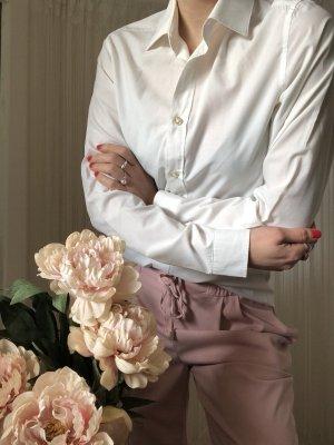 H&M Blouse à manches longues blanc-blanc cassé