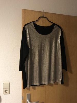 Gerry Weber Glanzende blouse zwart-brons