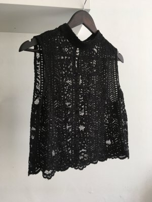 Forever 21 Crochet Top black