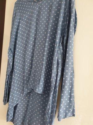 Blusa larga gris pizarra-azul pálido