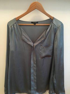 Comma Glanzende blouse leigrijs
