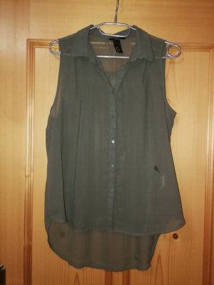 H&M Blusa verde scuro-cachi