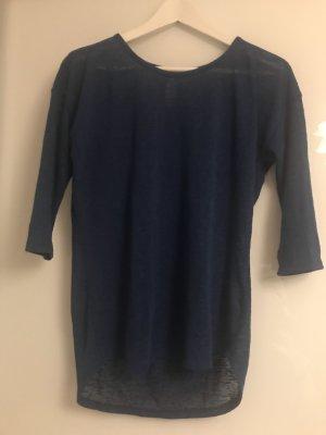 Orsay Blouse à manches courtes bleu foncé