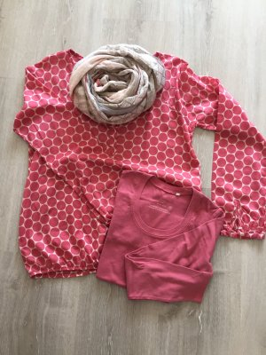 Opus Slip-over blouse framboosrood