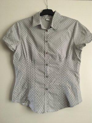 Camaieu Short Sleeved Blouse light grey-white