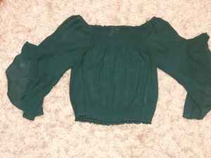H&M Divided Blusa transparente verde bosque