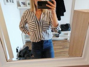 Vero Moda Shirt Blouse white-dark grey