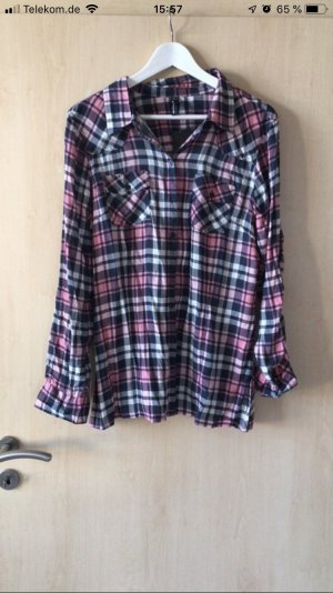 Blind Date Checked Blouse multicolored