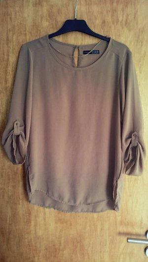 Atmosphere Transparante blouse lichtbruin