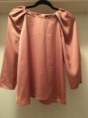 Zara Basic Glanzende blouse roségoud