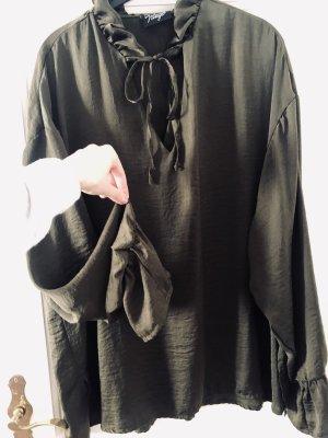 Reclaimed Vintage Oversized blouse donkergroen